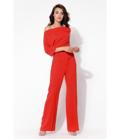 Komplet- Bluzka Mexi i Spodnie Mexiko Czerwony