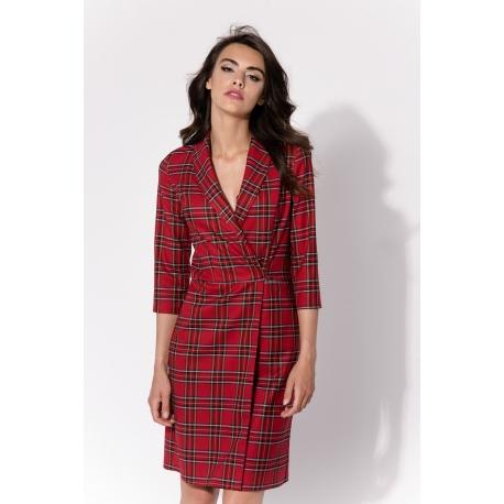 Sukienka Rimi Czerwona Krata