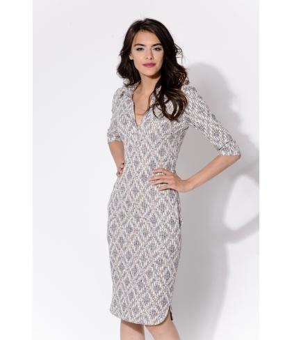 Sukienka BELLA Jasne wzory