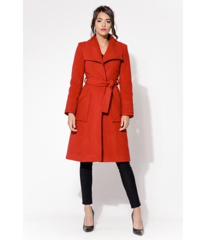 Płaszcz Frago Czerwony